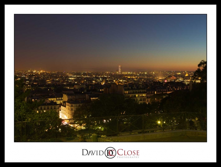 Paris at night from Sacre Coeur