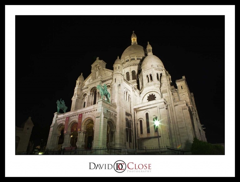Sacre Coeur Paris at night 2
